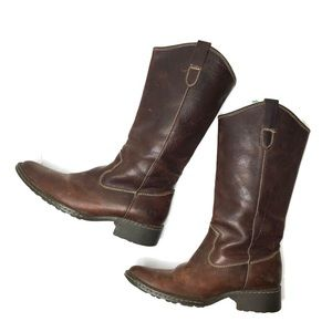 Western Born Shavano Leather Boots Chocolate 9.5